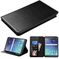 Insten Black Leather Case Cover with Stand/ Wallet Flap Pouch/ Photo Display For Samsung Galaxy Tab A 8