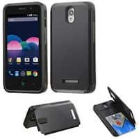 Insten Hard Snap-on Rubberized Matte Case Cover with Card Slot For ZTE Obsidian