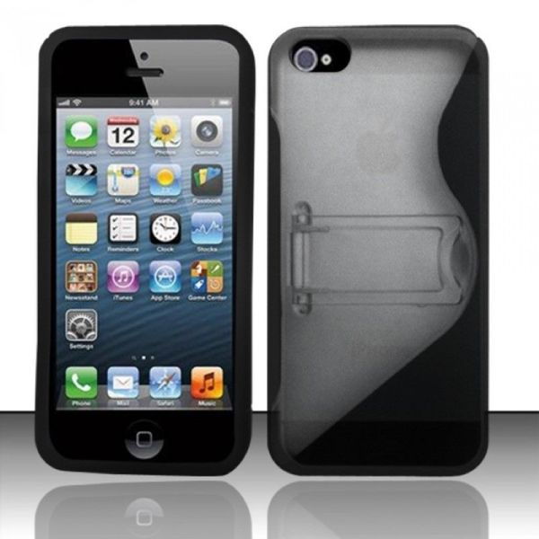 Insten Clear Hard Snap-on Case Cover with Stand For Apple iPhone 5/ 5S/ SE