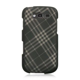 Insten Smoke Checker Hard Snap-on Rubberized Matte Case Cover For Samsung Galaxy S Blaze 4G SGH-T769 (T-Mobile)