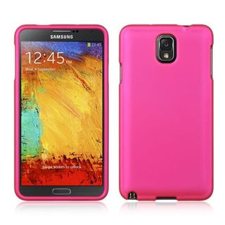 Insten Hot Pink Hard Snap-on Rubberized Matte Case Cover For Samsung Galaxy Note 3