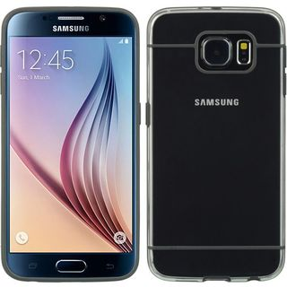 Insten Grey/ Clear Hard Snap-on Case Cover For Samsung Galaxy S6 SM-G920