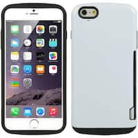 Insten TPU Rubber Candy Skin Case Cover with Card Slot For Apple iPhone 6/ 6s