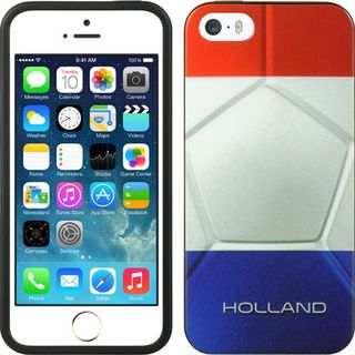 Insten White/ Blue Holland TPU Rubber Candy Skin Case Cover For Apple iPhone 5/ 5S