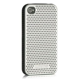 Insten Silver/ Black Mesh TPU Rubber Candy Skin Case Cover For Apple iPhone 4/ 4S