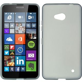 Insten Smoke Hard Snap-on Rubberized Matte Case Cover For Microsoft Lumia 640