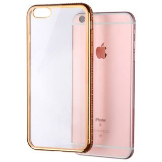 Insten Clear/ Gold Hard Snap-on Crystal Case Cover with Diamond For Apple iPhone 6 Plus/ 6s Plus