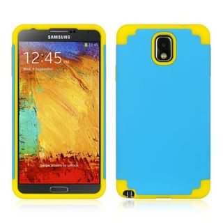 Insten Blue/ Yellow Hard Snap-on Dual Layer Hybrid Case Cover For Samsung Galaxy Note 3