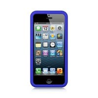 Insten Blue TPU Rubber Candy Skin Case Cover For Apple iPhone 5/ 5S