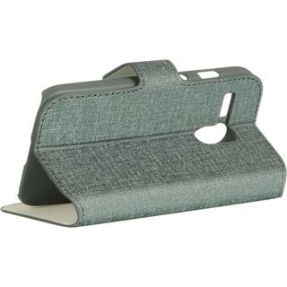 Insten Grey Leather Case Cover with Stand/ Wallet Flap Pouch For Motorola Moto G 1st Gen