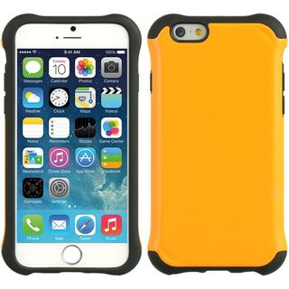 Insten Orange/ Black Hard Snap-on Dual Layer Hybrid Case Cover For Apple iPhone 6/ 6s