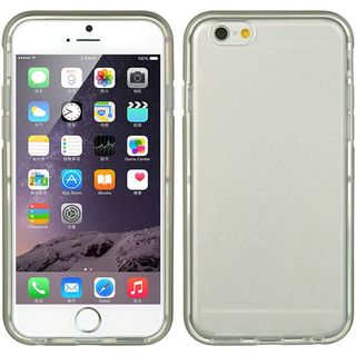 Insten Clear/ Grey TPU Rubber Candy Skin Case Cover For Apple iPhone 6 Plus/ 6s Plus