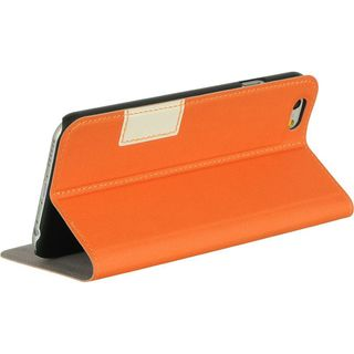Insten Orange Leather Case Cover with Stand/ Wallet Flap Pouch For Apple iPhone 6