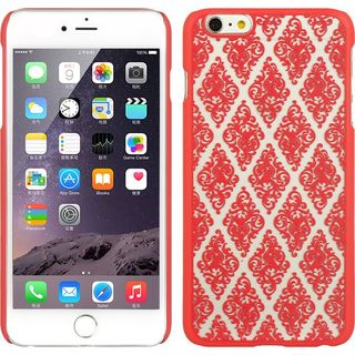 Insten Hot Pink/ White Lace Hard Snap-on Rubberized Matte Case Cover For Apple iPhone 6 Plus/ 6s Plus