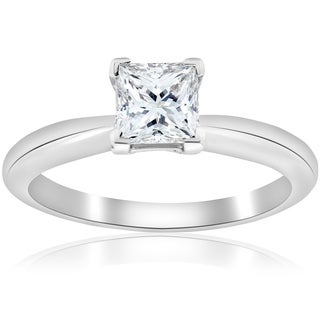 Platinum 1 ct TDW Princess Cut Diamond GIA Certified Solitaire Engagement Ring (D-VS1)
