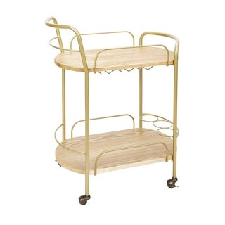 Wyndham 2-tier Bar Cart by Silverwood