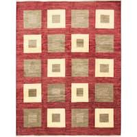 eCarpetGallery Peshawar Ziegler Red Wool Hand-knotted Rug - 8'2 x 10'5