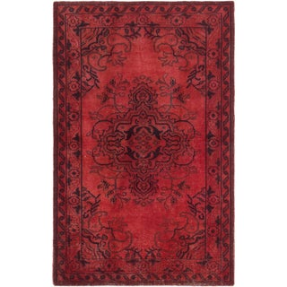 ecarpetgallery Hand Knotted Color transition Red Wool Rug (5'0 x 7'10)