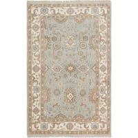 ecarpetgallery Hand Knotted Royal Ushak Blue Wool Rug - 5'0 x 8'0