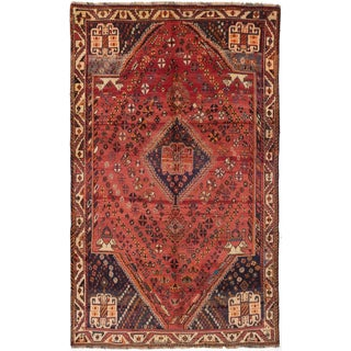 ecarpetgallery Hand Knotted Persian Vintage Brown Wool Rug (5'1 x 8'4)