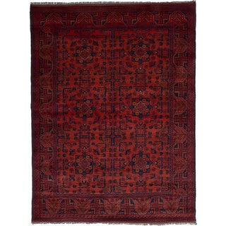ecarpetgallery Hand Knotted Finest Khal Mohammadi Red  Wool Rug (5'0 x 6'7)