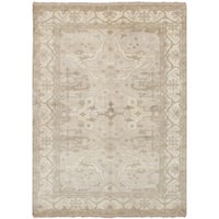 ecarpetgallery Hand Knotted Royal Ushak Brown  Wool Rug (6'3 x 9'0)