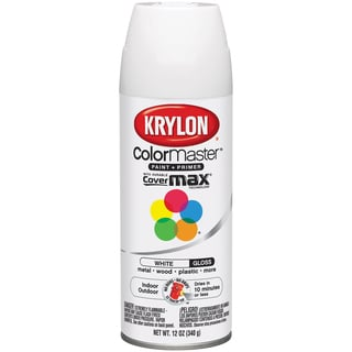 Colormaster Indoor/Outdoor Aerosol Paint 12oz-Gloss White