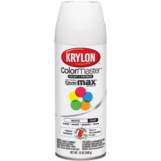 Colormaster Indoor/Outdoor Aerosol Paint 12oz-Flat White