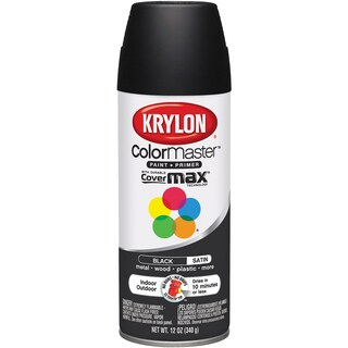 Colormaster Indoor/Outdoor Aerosol Paint 12oz-Satin Black