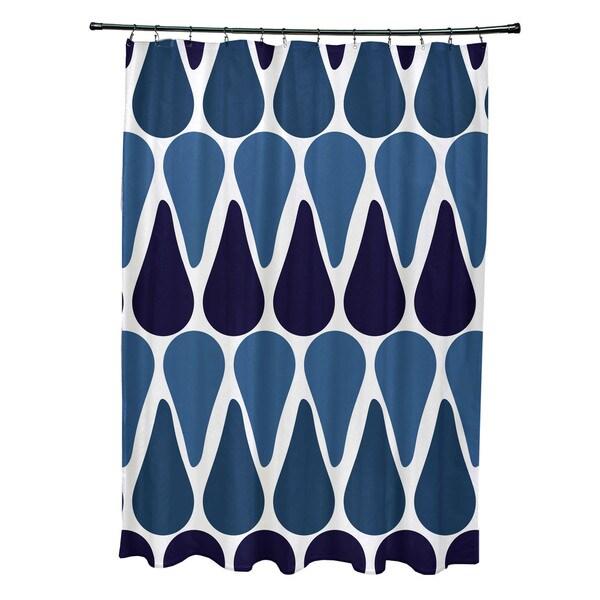 71 x 74-inch, Watermelon Seeds, Geometric Print Shower Curtain