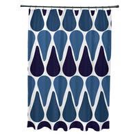 71 x 74-inch, Watermelon Seeds, Geometric Print Shower Curtain