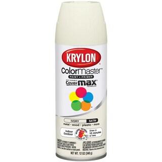 Colormaster Indoor/Outdoor Aerosol Paint 12oz-Satin Ivory