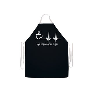 Life Begins After Coffee Kitchen Apron