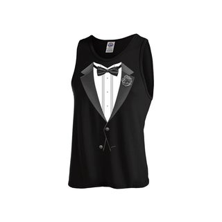 """Tank Top Tux""Men's Workout Tank Top"