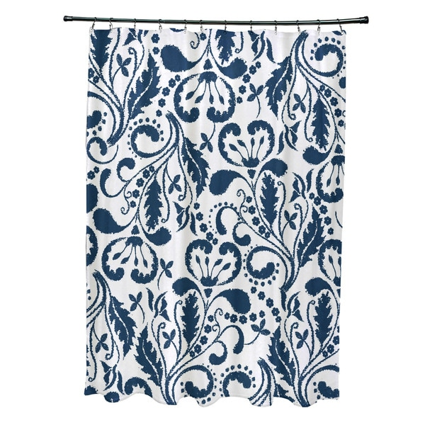 Aurora Floral Print Shower Curtain