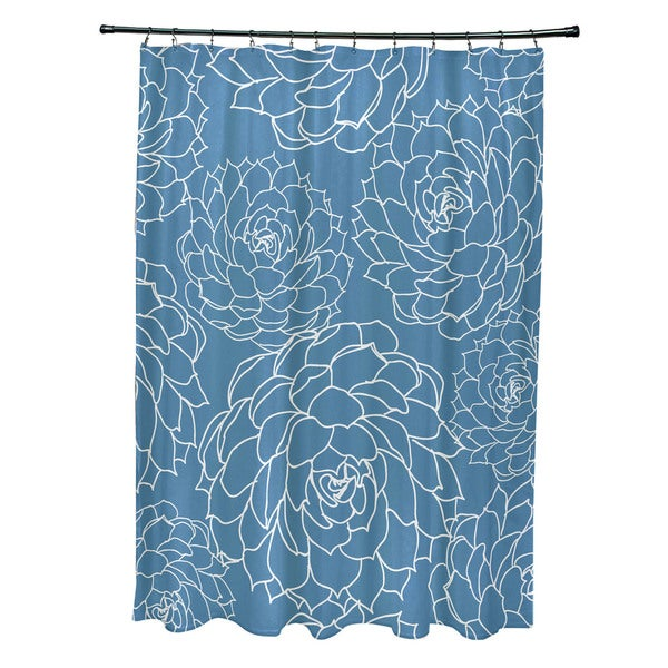Olena Floral Print Shower Curtain