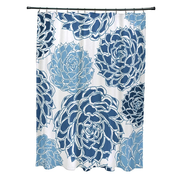 Olivia Floral Print Shower Curtain