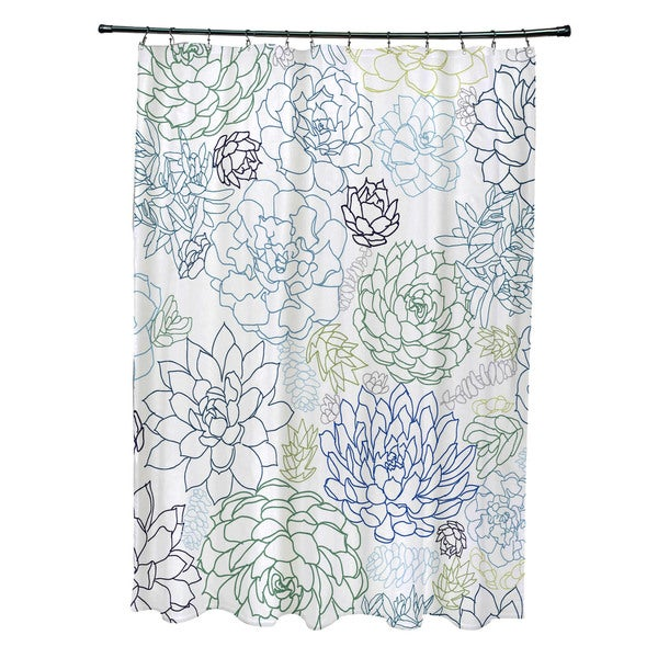 Opal Floral Print Shower Curtain