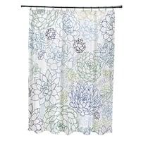 Opal Floral Print Shower Curtain