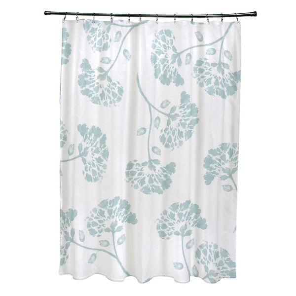 April Floral Print Shower Curtain