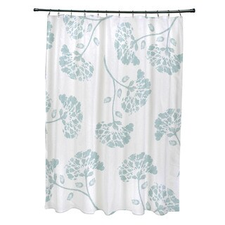 April Floral Print Shower Curtain