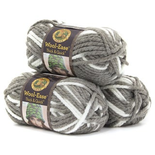 Lion Brand Yarn Wool Ease Thick and Quick Seagull 640-513 3 Pack Classic Yarn