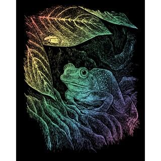 "Rainbow Foil Engraving Art Kit 8""X10""-Frog"