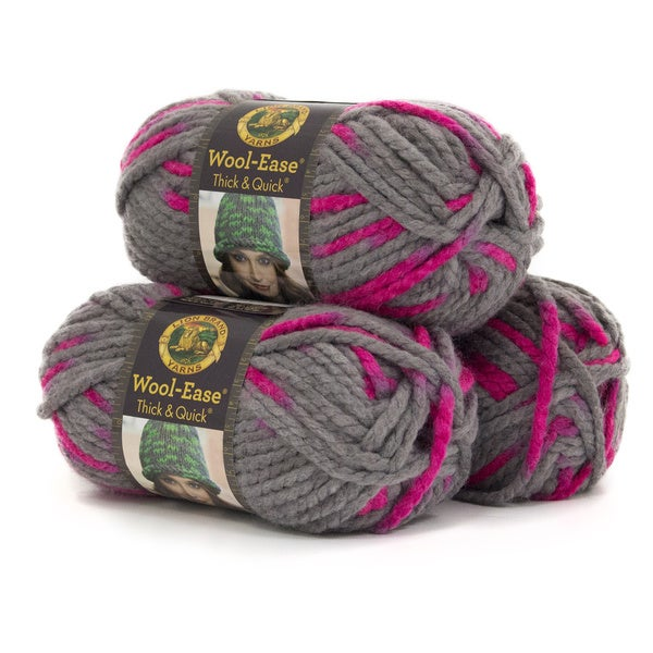 shop lion brand yarn wool ease thick and quick flamingo 640 509 3