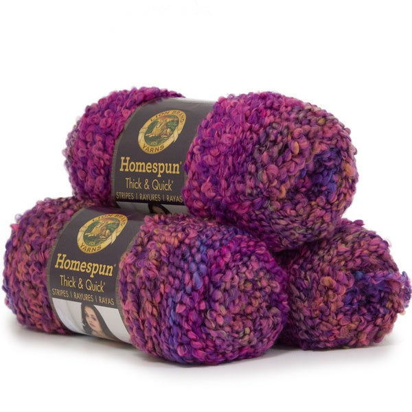 shop lion brand yarn homespun thick and quick sunset stripes 792 221