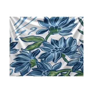 Iona Floral Print Tapestry (Option: Purple)