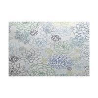 Opal Floral Print Indoor/Outdoor Rug
