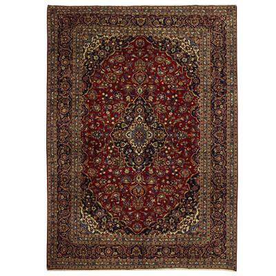Handmade One-of-a-Kind Kashan Wool Rug (Iran) - 9'11 x 13'9