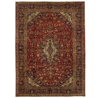 Herat Oriental Persian Hand-knotted Kashan Wool Rug (9'10 x 13'7)