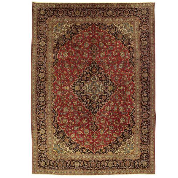 Handmade Herat Oriental Persian Kashan Wool Rug Iran 9 X27 6
